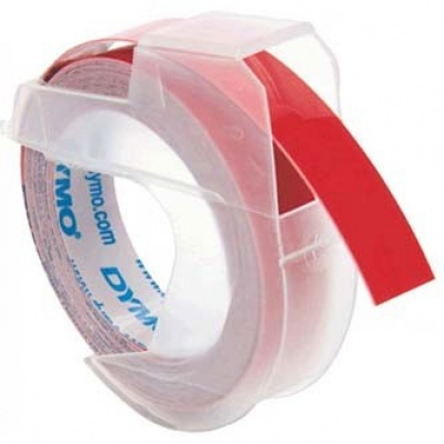Dymo S0898150, 9mm x 3m, biela tlač/červený podklad, originálna páska