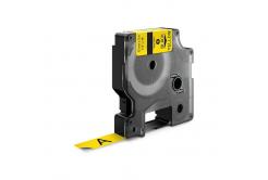 Kompatibilná páska s Dymo 18432, Rhino, 12mm x 5,5m čierna tlač / žltý podklad, vinyl