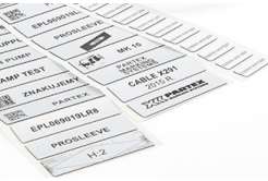 Partex EPL027015LR8C 27x15mm, stříbrná 1500ks, EPL panelový štítek