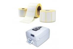Samolepiace etikety 30x100 mm, 500 ks, termo, role