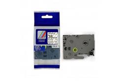 Kompatibilná páska s Brother TZ-161 / TZe-161, 36mm x 8m, čierna tlač / priehľadný podklad