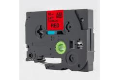 Kompatibilná páska s Brother TZ-FX431 / TZe-FX431, 12mm x 8m, flexi, čierna tlač / červený podklad