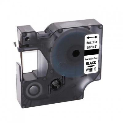 Kompatibilná páska s Dymo 18053, S0718280, Rhino, 9mm x 1,5m čierna tlač / biely podklad