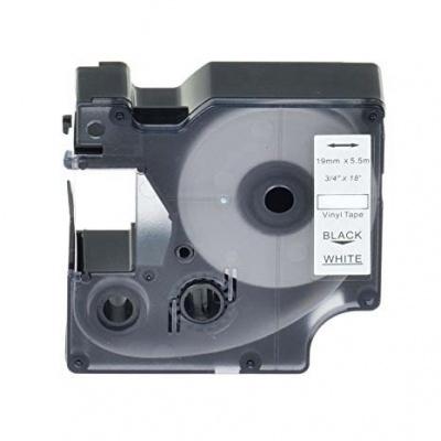 Kompatibilná páska s Dymo 18445, Rhino, 19mm x 5,5m čierna tlač / biely podklad, vinyl