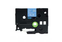 Kompatibilná páska s Brother TZ-545 / TZe-545, 18mm x 8m, biela tlač / modrý podklad