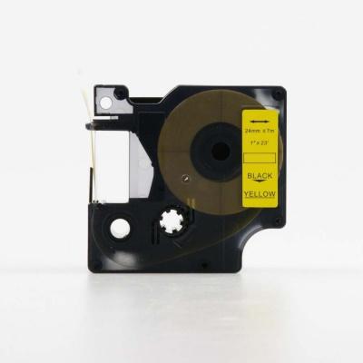 Kompatibilná páska s Dymo 53718, S0720980, 24mm x 7m, čierny tisk / žltý podklad
