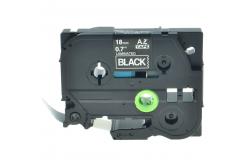 Kompatibilná páska s Brother TZ-S345/TZe-S345 18mm x 8m extr.adh. biela tlač/čierný podklad