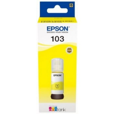 Epson originálna cartridge C13T00S44A, 103, yellow, 65ml, Epson EcoTank L3151, L3150, L3111, L3110