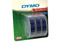 Dymo S0847740, 9mm x 3m bílý tisk / modrý podklad, originální páska