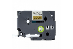 Kompatibilná páska s Brother TZ-861 / TZe-861, 36mm x 8m, čierna tlač / zlatý podklad