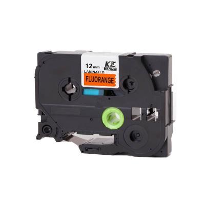 Kompatibilná páska s Brother TZ-B31/TZe-B31, signálne 12mm x 8m, čierna tlač/oranžový podklad