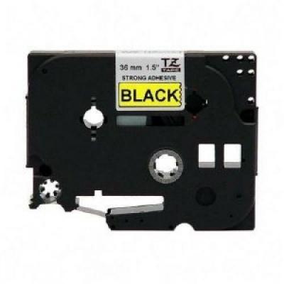 Kompatibilná páska s Brother TZ-S661/TZe-S661,36mm x 8m,extr.adh. čierny tisk/žltý podklad