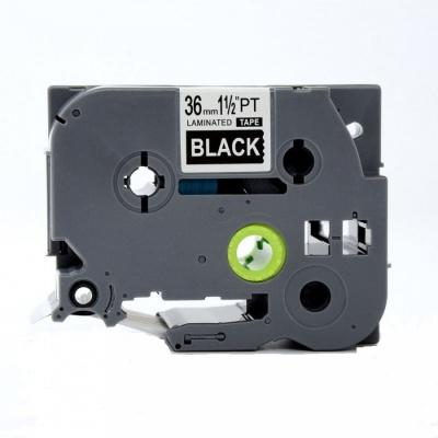 Kompatibilná páska s Brother TZ-365 / TZe-365, 24mm x 8m, biela tlač / čierny podklad