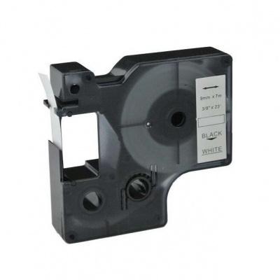 Kompatibilná páska s Dymo 40913, S0720680, 9mm x 7m, čierna tlač/biely podklad