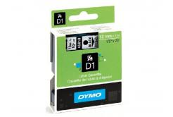 Dymo D1 45018, S0720580, 12mm x 7m, čierna tlač / žltý podklad, originálna páska