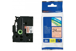 Brother TZ-B51 / TZe-B51, 24mm x 8m, čierna tlač/signální oranžový podklad, originálna páska
