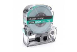 Epson LC-SD18GW, 18mm x 8m, bílý tisk / zelený podklad, kompatibilní páska