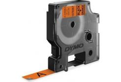 Dymo D1 1978367, 12mm x 3m, čierna tlač / oranžový podklad, originálna páska