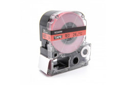 Epson LC-SC24RW, 24mm x 8m, černý tisk / červený podklad, kompatibilní páska