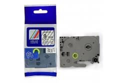 Kompatibilná páska s Brother TZ-121 / TZe-121, 9mm x 8m, čierna tlač / priehľadný podklad