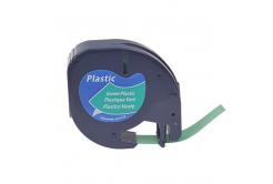 Kompatibilná páska s Dymo 59425,S0721590 / 91204,S0721640, 12mm x 4m,čierny tisk/zelený pod