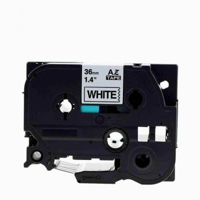 Brother TZe-V261, 36mm x 5,5m, černý tisk / bílý podklad, vinyl, kompatibilní páska