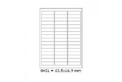 Samolepiace etikety 63,5 x 16,9 mm, 48 etiket, A4, 100 listů