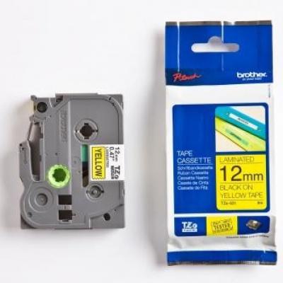 Brother TZ-631 / TZe-631, 12mm x 8m, čierna tlač / žltý podklad, originálna páska
