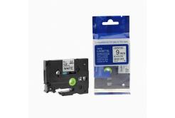 Kompatibilná páska s Brother TZ-221 / TZe-221, 9mm x 8m, čierna tlač / biely podklad