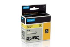 Dymo Rhino 18432, S0718450, 12mm x 5,5m čierna tlač / žltý podklad, originálná páska