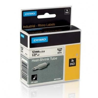 Dymo Rhino 18055, S0718300, 12mm x 1,5m čierna tlač / biely podklad, originálná páska