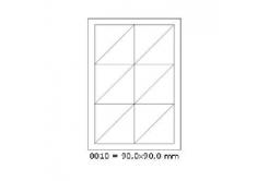 Samolepiace etikety 90 x 90 mm, 12 etikiet, A4, 100 listov