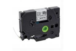 Kompatibilná páska s Brother HSe-211, 5,8mm x 1,5m, čierna tlač / biely podklad