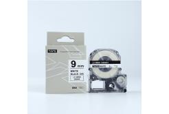 Epson LK-SS9KW, 9mm x 9m, černý tisk / bílý podklad, kompatibilní páska