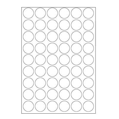 Samolepiace etikety 30 x 30 mm, 54 etikiet, A4, 100 listov