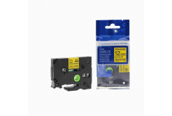Kompatibilná páska s Brother TZ-S631/TZe-S631, 12mm x 8m extr.adh. čierna tlač/žltý podklad