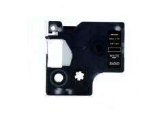 Kompatibilná páska s Dymo 40921, 9mm x 7m, biela tlač / čierny podklad