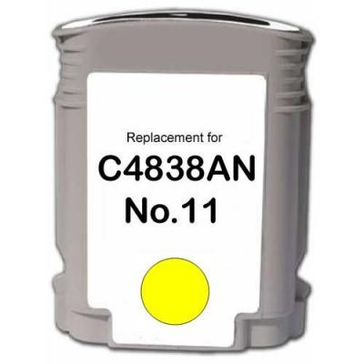 HP 11 C4838A žltá (yellow) kompatibilna cartridge